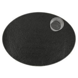 UASHMAMA Placemat Oval Tec Black