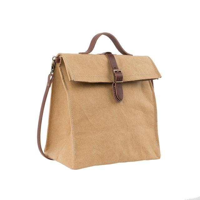 UASHMAMA Lunch Bag Tracolla Avana