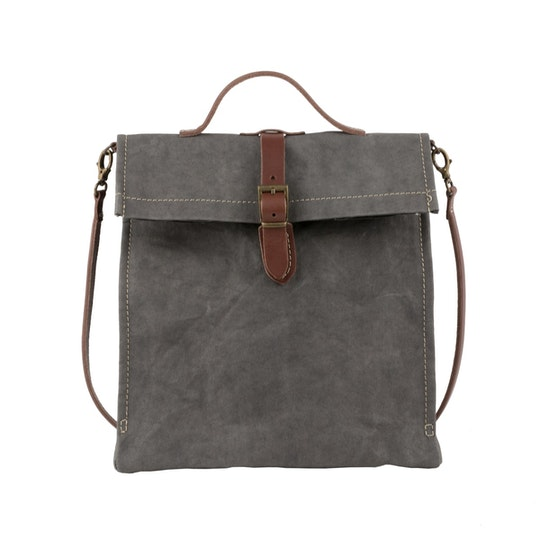 UASHMAMA Lunch Bag Tracolla Dark Grey