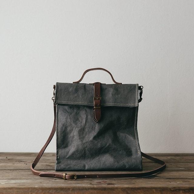 UASHMAMA Lunch Bag Tracolla Dark Grey