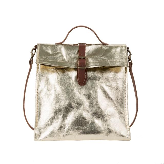 UASHMAMA Lunch Bag Tracolla  Metallic Metallic Platino