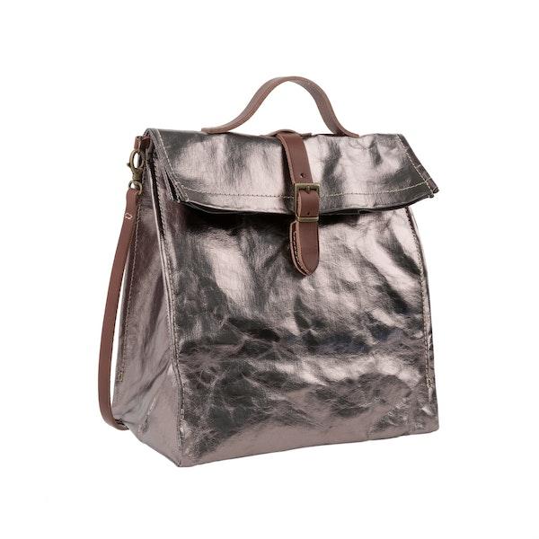 UASHMAMA Lunch Bag Tracolla  Metallic Metallic Peltro