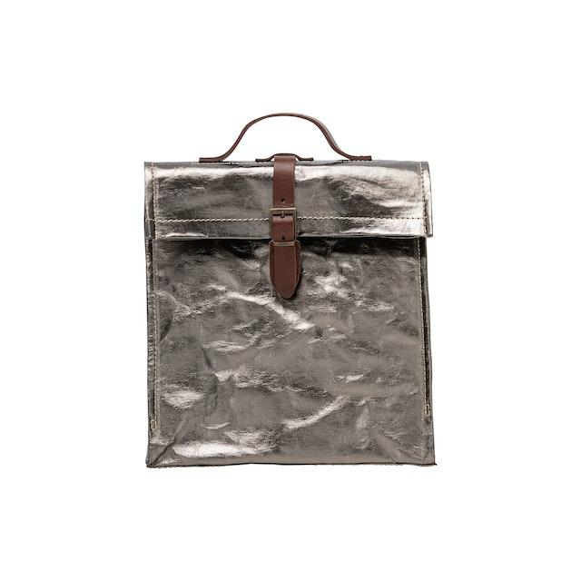 UASHMAMA Lunch Metallic Backpack Metallic Peltro