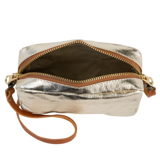 UASHMAMA Mini Bag Metallic Metallic Platino