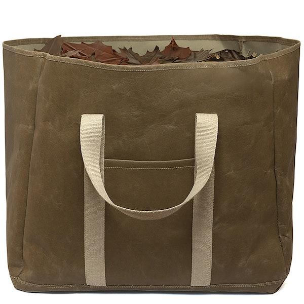 UASHMAMA Wood Bag Large Olive