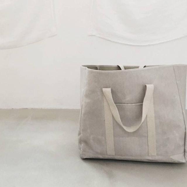 UASHMAMA Wood Bag Large Grey