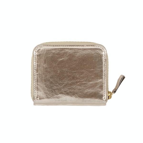 UASHMAMA Vita Wallet Small Metallic Metallic Platinum