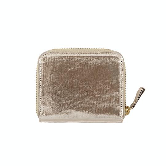 UASHMAMA Vita Wallet Small Metallic Metallic Platino