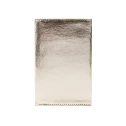 UASHMAMA Wallet Large Metallic Metallic Platinum