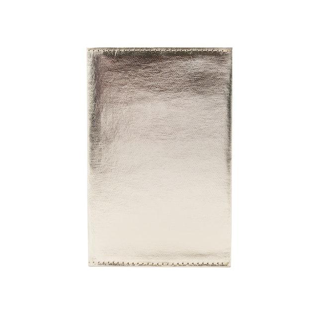 UASHMAMA Wallet Large Metallic Metallic Platinum