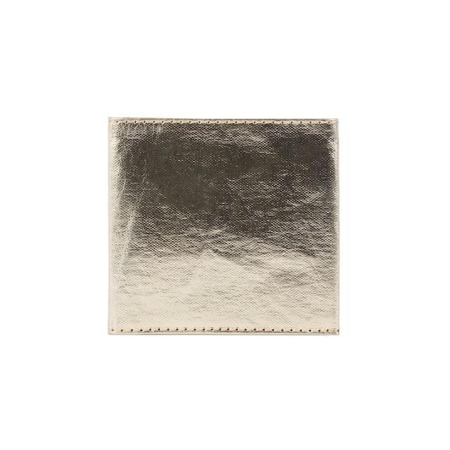UASHMAMA Wallet Small Metallic Metallic Platinum