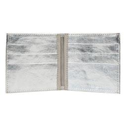 UASHMAMA Wallet Small Metallic Metallic Silver