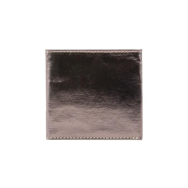 UASHMAMA Wallet Small Metallic Metallic Peltro