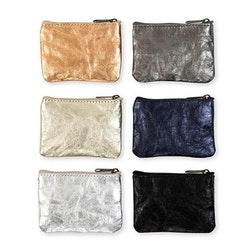 UASHMAMA Gimi Purse Small Metallic Metallic Petrolio