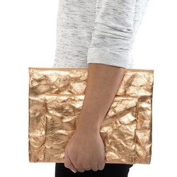 UASHMAMA Maru Clutch Small Metallic Metallic Rose
