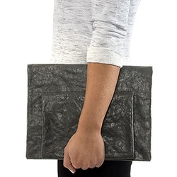 UASHMAMA Maru Clutch Small Dark Grey