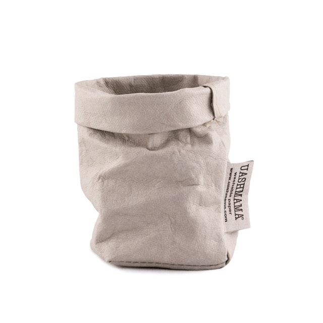 UASHMAMA Paper Bag Basic Xsmall  Grey