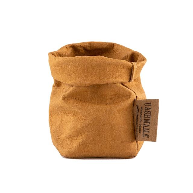 UASHMAMA Paper Bag Basic Xsmall  Camel