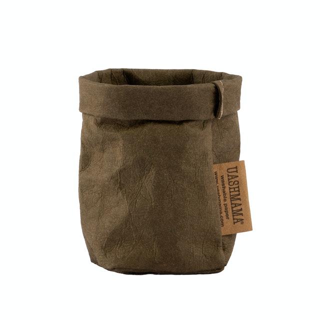 UASHMAMA Paper Bag Basic Xsmall  Olive