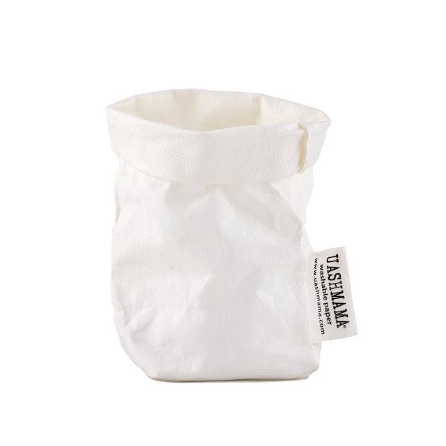 UASHMAMA Paper Bag Basic Xsmall  White