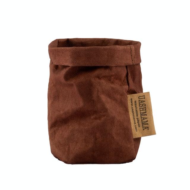 UASHMAMA Paper Bag Colored Xsmall Cognac