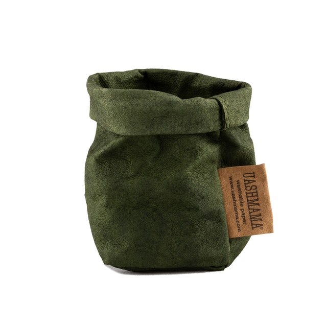 UASHMAMA Paper Bag Colored Xsmall Forest