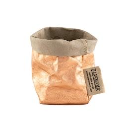 UASHMAMA Paper Bag Metallic Xsmall Sabbia/Rosato