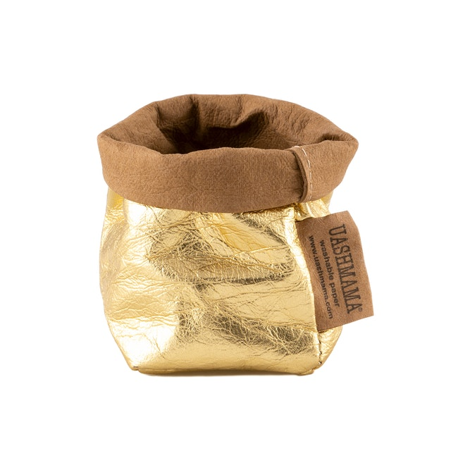 UASHMAMA Paper Bag Metallic Xsmall Metallic Gold