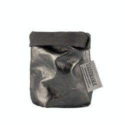 UASHMAMA Paper Bag Metallic Xsmall Dark Grey/Peltro