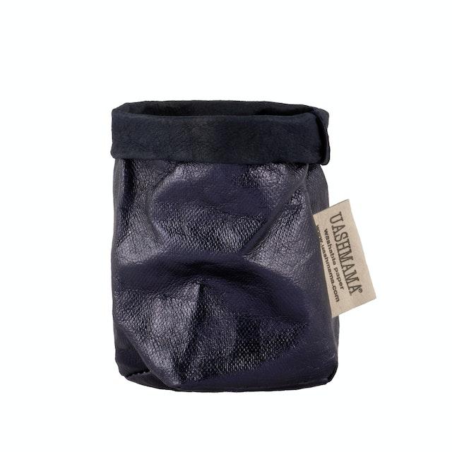 UASHMAMA Paper Bag Metallic Xsmall Blue/Petrolio