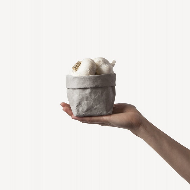 UASHMAMA Paper Bag Basic Piccolo   Grey
