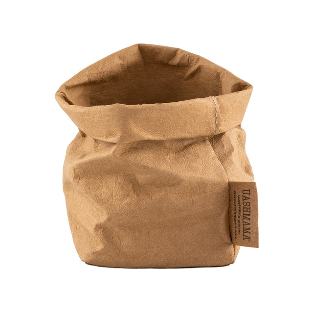 UASHMAMA Paper Bag Basic Piccolo   Avana