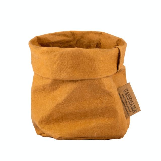 UASHMAMA Paper Bag Basic Piccolo   Camel