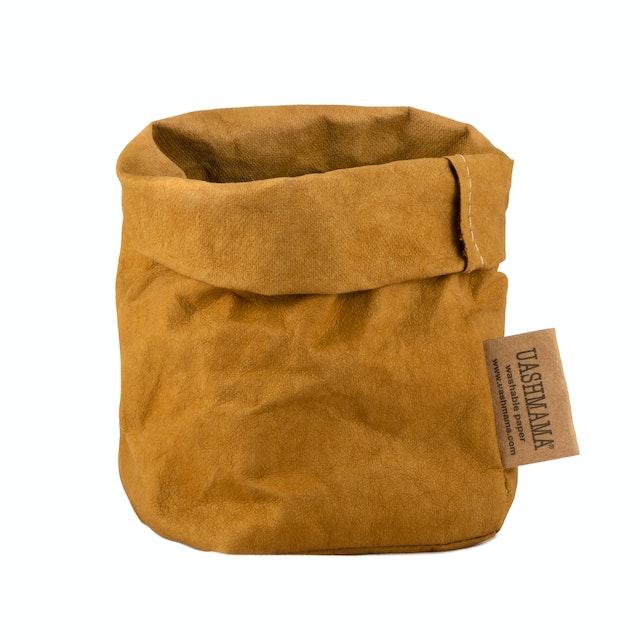 UASHMAMA Paper Bag Colored Piccolo   Ocra