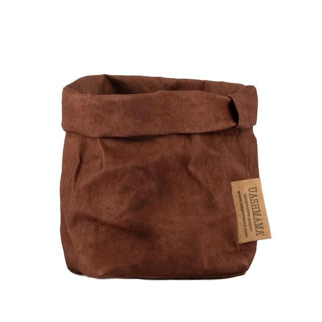 UASHMAMA Paper Bag Colored Piccolo   Cognac