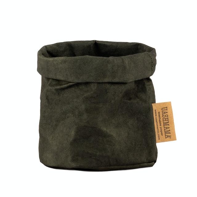 UASHMAMA Paper Bag Colored Piccolo   Dark Green