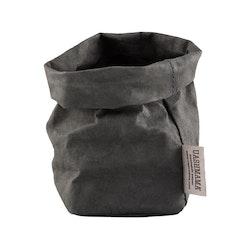 UASHMAMA Paper Bag Colored Piccolo   Dark Grey