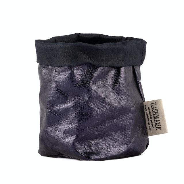 UASHMAMA Paper Bag Metallic Piccolo  Blue/Petrolio