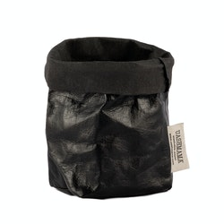 UASHMAMA Paper Bag Metallic Piccolo  Metallic Black