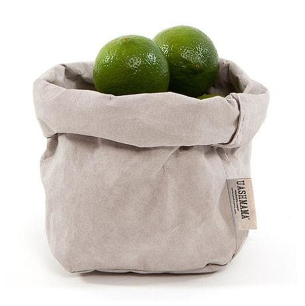 UASHMAMA Paper Bag Basic Small Grey
