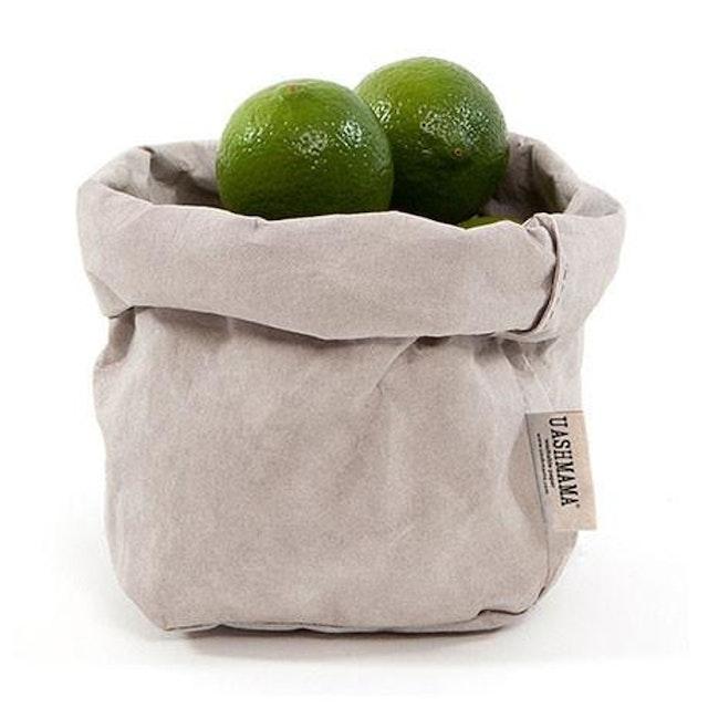UASHMAMA Paper Bag Basic Small Grey