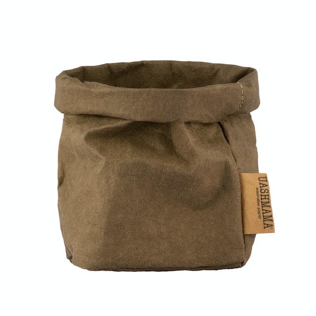 UASHMAMA Paper Bag Basic Small Olive