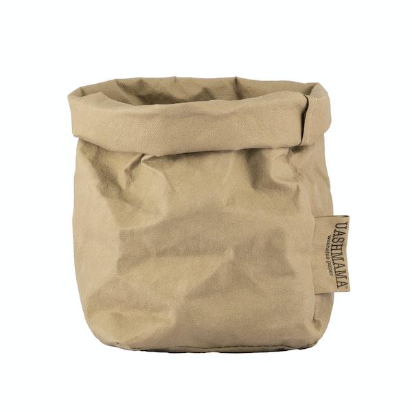 UASHMAMA Paper Bag Colored Small   Sabbia