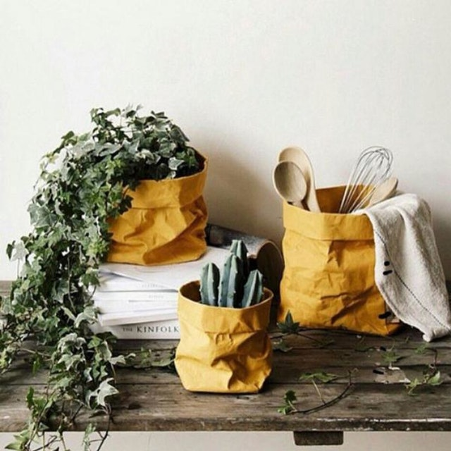 UASHMAMA Paper Bag Colored Small   Senape