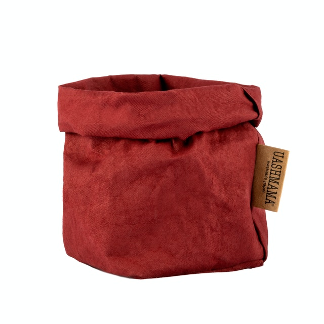 UASHMAMA Paper Bag Colored Small   Bordeaux