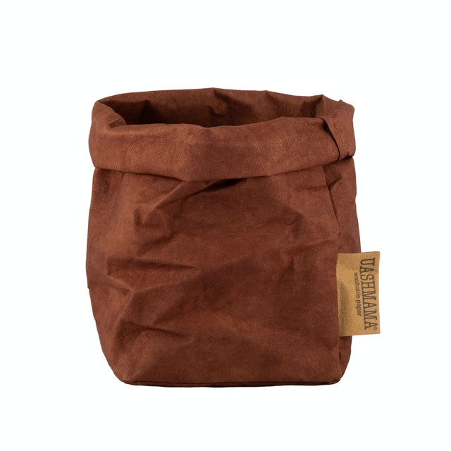 UASHMAMA Paper Bag Colored Small   Cognac