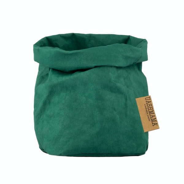 UASHMAMA Paper Bag Colored Small   Smeraldo