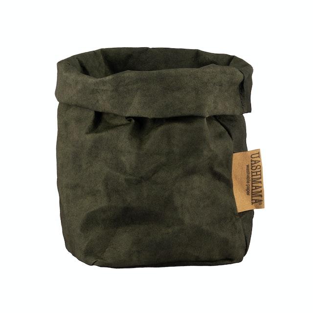 UASHMAMA Paper Bag Colored Small   Dark Green