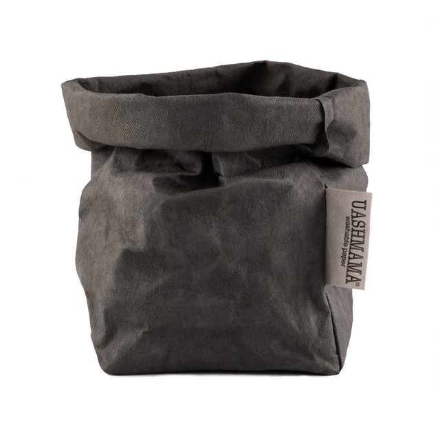 UASHMAMA Paper Bag Colored Small   Dark Grey