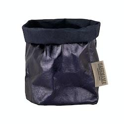 UASHMAMA Paper Bag Metallic Small   Blue/Petrolio
